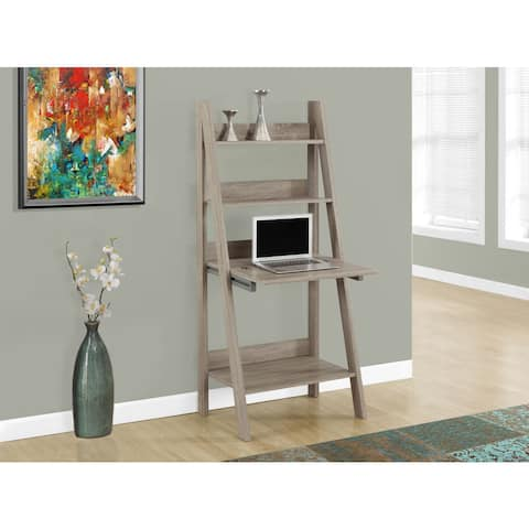 Computer Desk/Dark Taupe Ladder Style