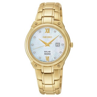 Seiko Women's Goldtone Stainless Steel 'Core' Solar Analog Display Watch