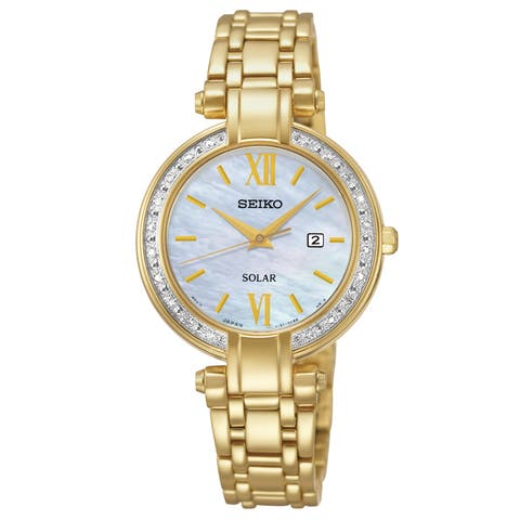 Seiko Women's SUT182 Gold-Tone Stainless Steel 'Tressia' Analog Display Watch