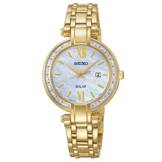 Seiko Women's SUT182 Gold-Tone Stainless Steel 'Tressia' Analog Display Watch|https://ak1.ostkcdn.com/images/products/10951468/P17977653.jpg?impolicy=medium