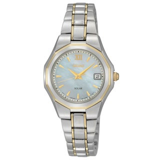 Seiko Women's Solar Two Tone Stainless Steel Bracelet Watch