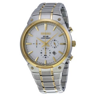 Seiko Men's SSC318 Two-Tone Stainless Steel Analog Display Quartz Watch