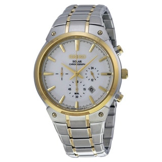 Seiko Men's Two-tone Stainless Steel Analog Display Quartz Watch