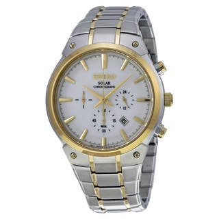 Seiko Men's SSC318 Two-Tone Stainless Steel Analog Display Quartz Watch https://ak1.ostkcdn.com/images/products/10951475/P17977658.jpg?impolicy=medium