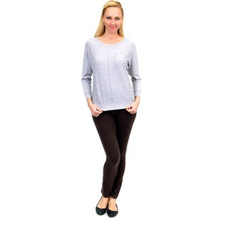 La Cera Women's Cotton Long Sleeve Pullover Top