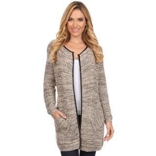 High Secret Women's Crochet Metallic Tunic-length Open Front Cardigan (More options available)