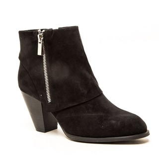 QUPID SALTY-03 Women's Montage Zipper Chunky Ankle Booties