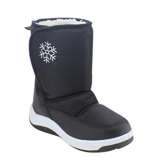 VIA PINKY SCARLETT-53F Children Girl Flower Warm Mid Calf Snow Boots (Option: Blue)