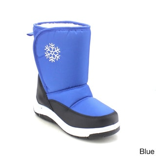 VIA PINKY SCARLETT-53F Children Girl Flower Warm Mid Calf Snow Boots