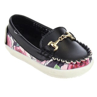 VIA PINKY BECCY-64B Girl's Slip On Moccasin Loafers