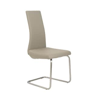 Rhea Side Chair (Set of 4) - Taupe/Brushed Stainless Steel