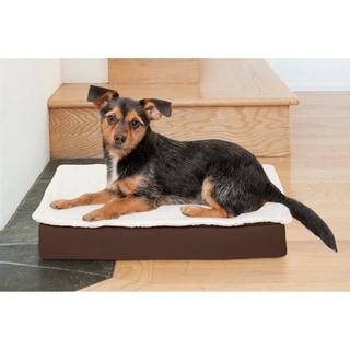 Fur Haven Deluxe Indoor Outdoor Convertible Memory Foam Pet Bed