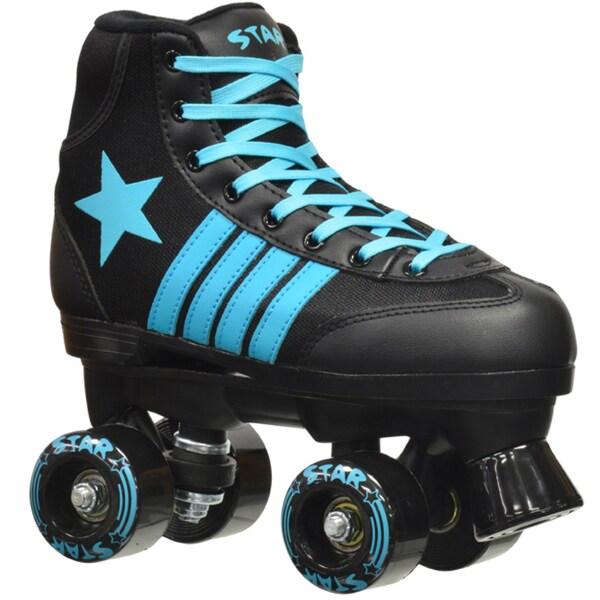 Epic Star Hydra Black and Blue Quad Indoor/ Outdoor High-Top Quad Roller Skates