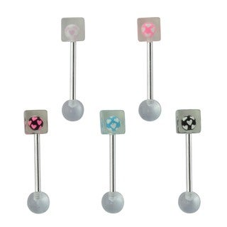 Supreme Jewelry Barbell Tongue Ring  (Pack of 5)