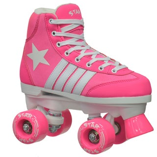 Epic Star Carina Pink Quad Indoor/ Outdoor High-Top Quad Roller Skates