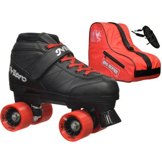 Epic Super Nitro Red Quad Speed Roller Skates Package