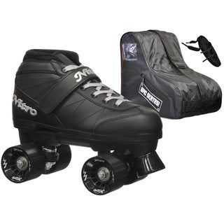 Epic Super Nitro Black Quad Speed Roller Skates Package