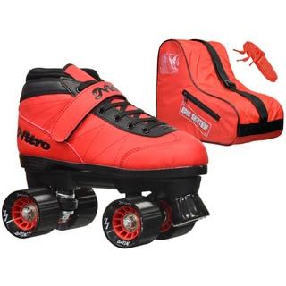 Epic Nitro Turbo Red Quad Speed Roller Skates Package