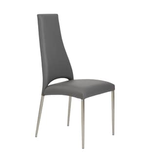 Tara Grey/ Brushed Stainless Side Chair (Set of 4)