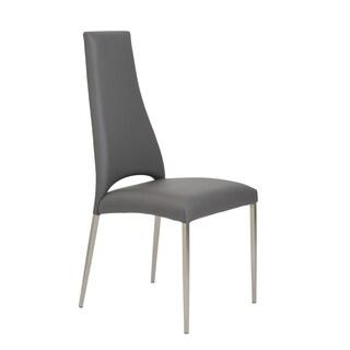 Tara Grey/ Brushed Stainless Dining Chair (Set of 2 or 4)