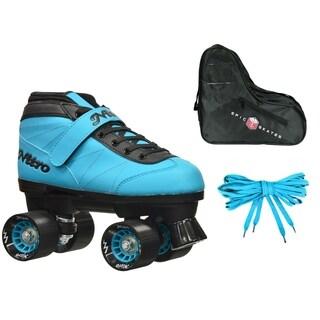 Epic Nitro Turbo Blue Quad Speed Roller Skates Package