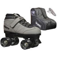 Epic Nitro Turbo Grey Quad Speed Roller Skates Package
