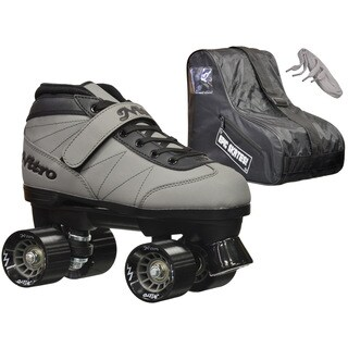 Epic Nitro Turbo Grey Quad Speed Roller Skates Package (5 options available)
