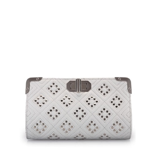 Jasbir Gill JG/SL/CL115 White Leather Clutch (India)