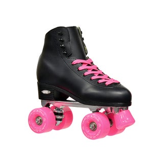 Epic Classic Black and Pink High-Top Quad Roller Skates (More options available)