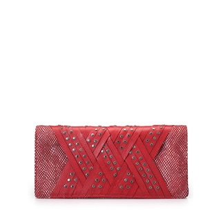 Jasbir Gill JG/SL/CL197 Red Leather Clutch (India)