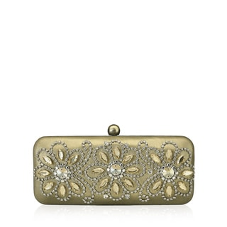 Jasbir Gill JG/SL/CL183 Gold Leather Clutch (India)