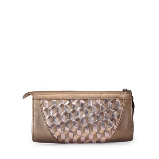 Jasbir Gill JG/SL/CL165 Gold Leather Clutch (India)