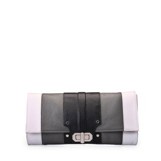 Jasbir Gill JG/SL/CL127 Black and White Leather Clutch (India)