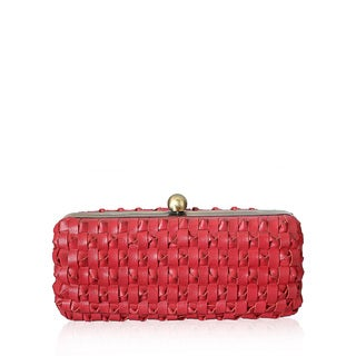 Jasbir Gill JG/SL/CL056 Red Leather Clutch (India)