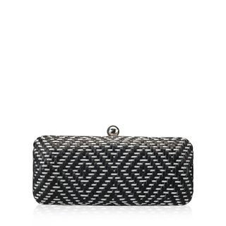 Jasbir Gill JG/SL/CL014 Black and Silver Leather Clutch (India)