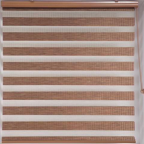 Upscale Designs Zebra Sheer Striped Brown Roller Blind