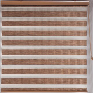 Upscale Designs Zebra Sheer Striped Brown Roller Blind (More options available)