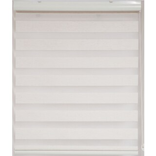 Upscale Designs Sheer Striped Off-White Blind
