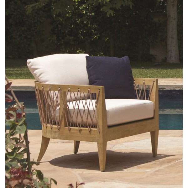 Brown Jordan Marin Wood Outdoor Lounge Chair - Free Shipping Today ...