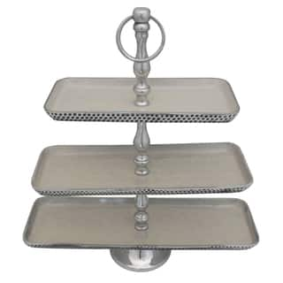 Casa Cortes Event Essentials Aluminum 3-Tier Server|https://ak1.ostkcdn.com/images/products/10951662/P17977864.jpg?impolicy=medium