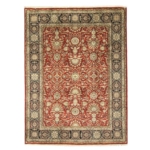 Hand Tufted Traditional Oriental Red Wool Rug With Non: Shop Hand-knotted Wool Red Traditional Oriental Sarouk Rug