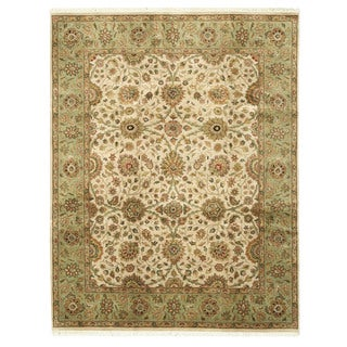 EORC Hand Knotted Wool Ivory Jaipur Rug (7'11 x 10')