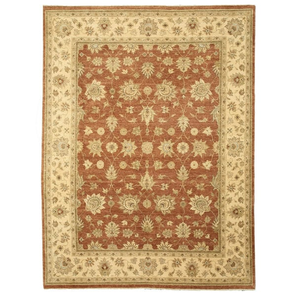 Hand Knotted Wool Rust Traditional Oriental Jaipur Rug 9 X 11 11 9 X 12 On Sale Overstock 10951669