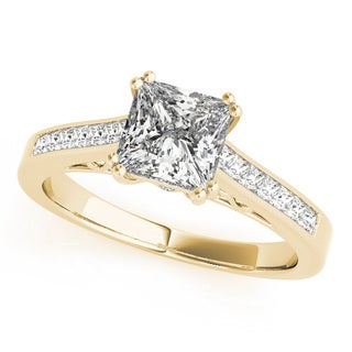 14k Gold Double Prong Princess-Cut Diamond Engagement Ring 1.25ct