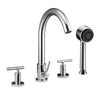 Dawn 4-hole Tub Filler with Personal Handshower and Lever Handles
