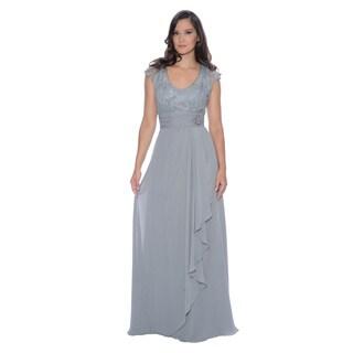 Decode 1.8 Women's Cadet Grey Lace Embellished Dress