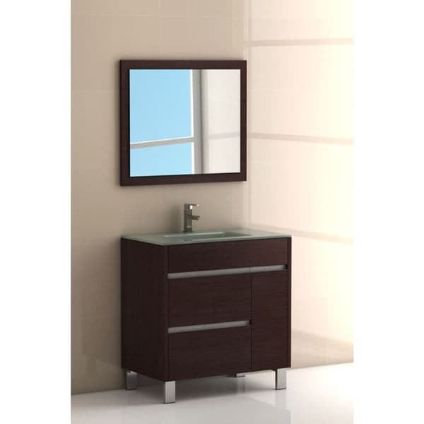 45 Inch Bathroom Vanities eviva tauro 32-inch wenge (dark brown) modern bathroom vanity set