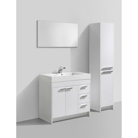 Eviva Lugano 36-inch White Modern Bathroom Vanity with White Integrated Acrylic Sink