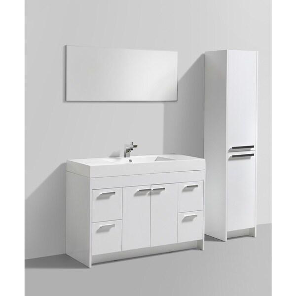 Shop Eviva Lugano Inch White Modern Bathroom Vanity With White - 48 inch modern bathroom vanity