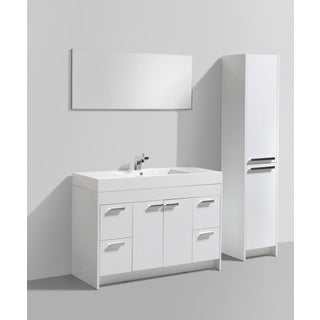Eviva Lugano 48-inch White Modern Bathroom Vanity with White Integrated Acrylic Sink